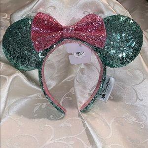 Mint Green/Pink Minnie Ears